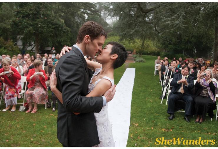 san diego wedding photography, shewanders photography, wedding kiss