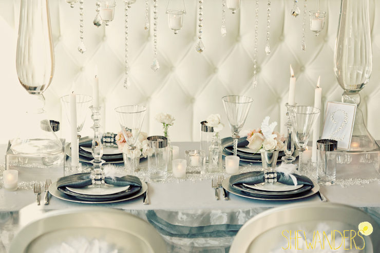 modern wedding table, wedding chicks feature, san diego wedding photography