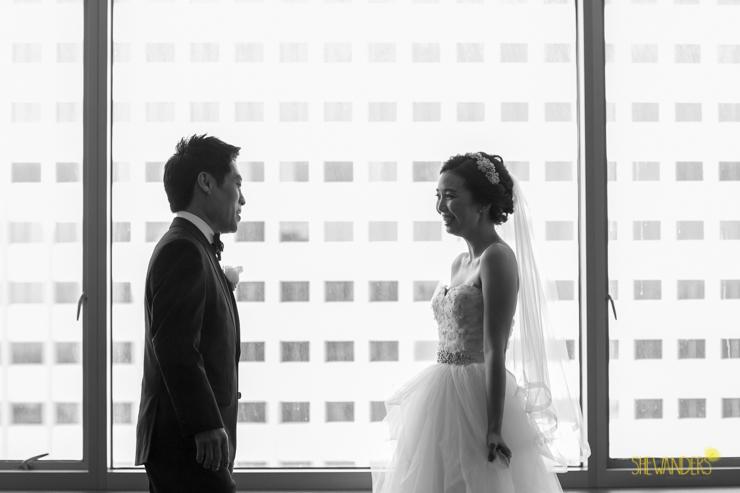 hotel palomar wedding photography, shewanders photography, hotel palomar san diego, reveal, black and white