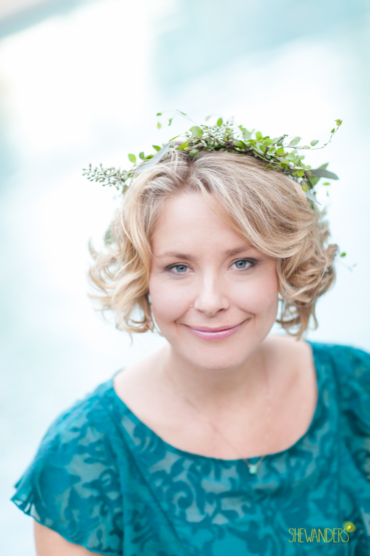 cute blonde, flower crown, anthropologie, shewanders photography, engagement photography san diego