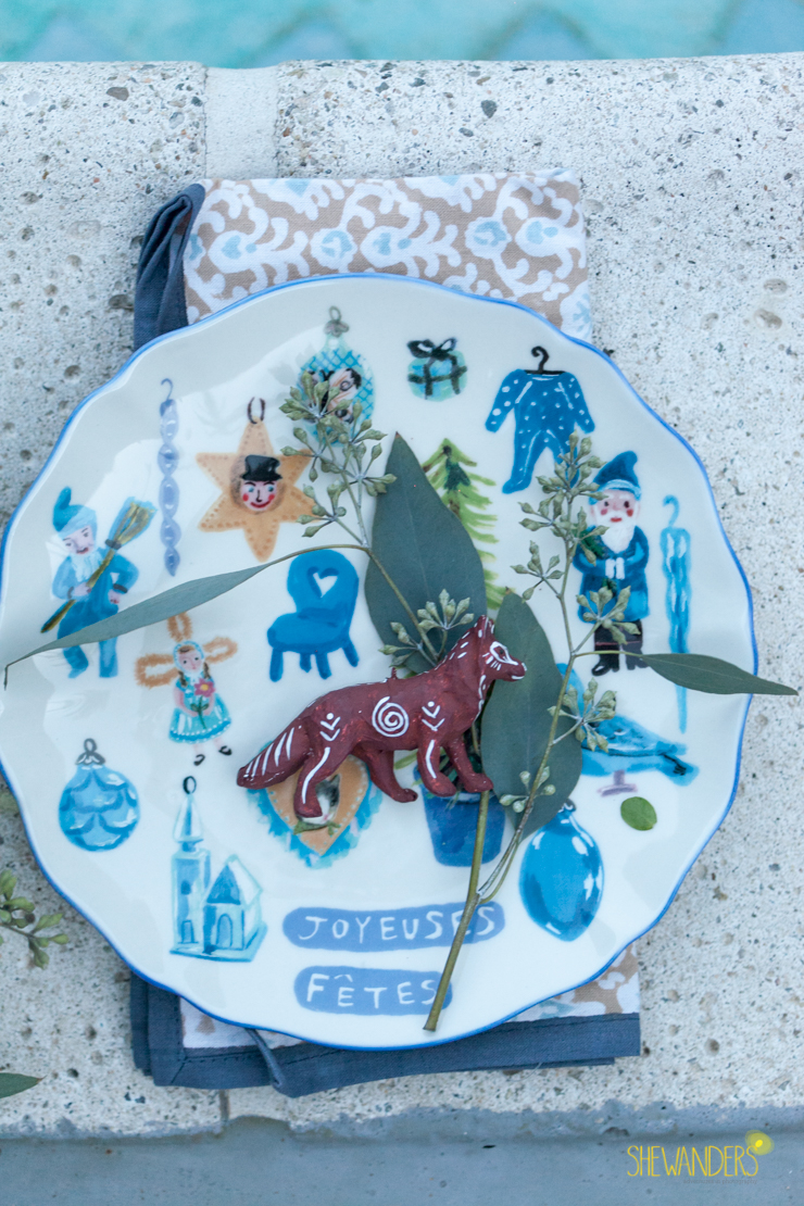 anthropologie christmas plate, shewanders photography, engagement photography san diego