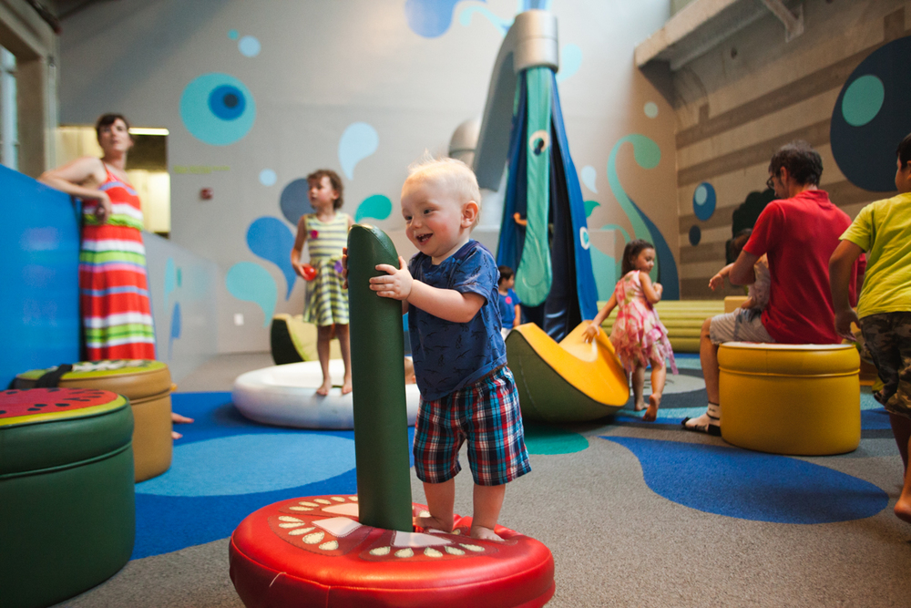 My amazing nephew playing at The New Children's Museum