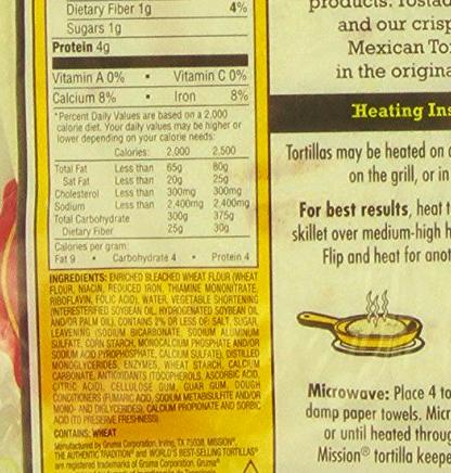A mega list in flour tortillas :(