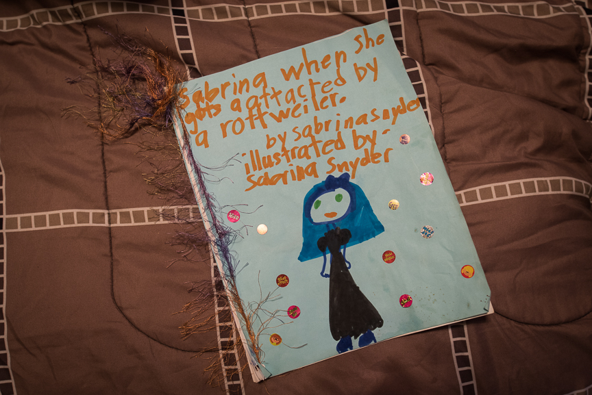 A journal written by Sabrina Snyder, 9, of Brookline after she was mauled by a Rottweiler in Aug. 2014, leaving her with several physical injuries as well as emotional scars from the incident.