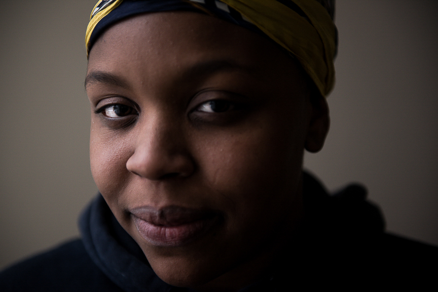 Dezmaire Baker, 17, poses for a portrait at the Allegheny Intermediate Unit in Homestead on Feb. 16, 2017.
