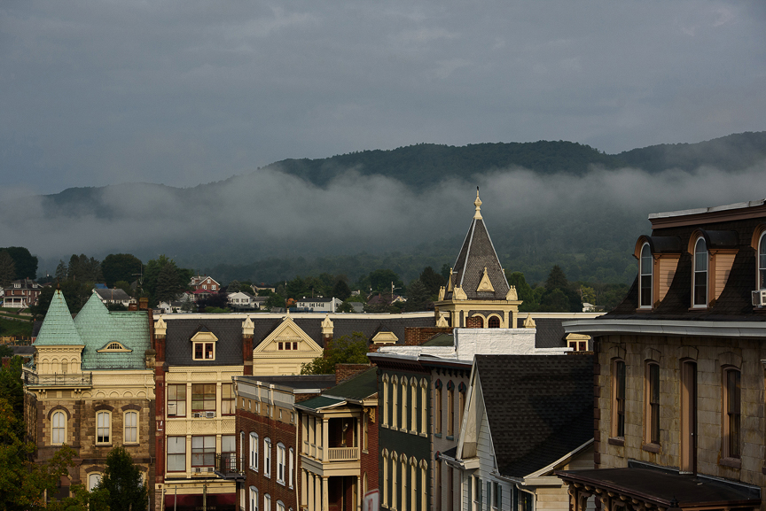 As the preliminary hearing for the death of Tim Piazza continues, fog sits over Bellefonte, Pa., on Friday, Aug., 2017 in Bellefonte, Pa.