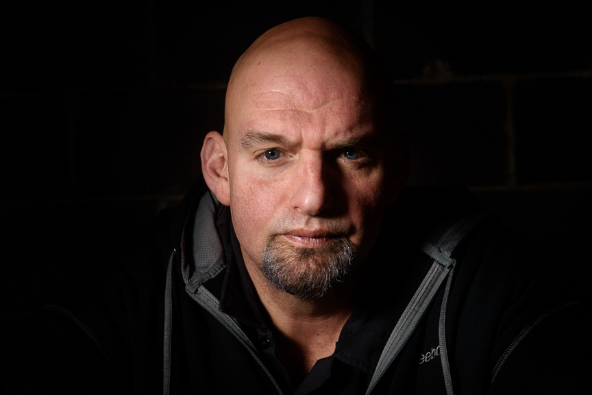 John Fetterman, the mayor of Braddock and candidate for Lieutenant Governor of Pennsylvania sits at The Brew Gentlemen on January 10, 2018 in Braddock, Pa. Read more about Fetterman in  October Magazine .