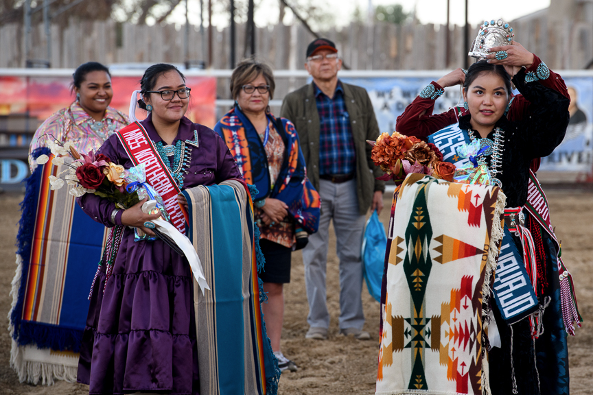 Miss Northern Navajo is crowned at the Shiprock Northern Navajo Nation Fair on October 5, 2018 in Shiprock, New Mexico.