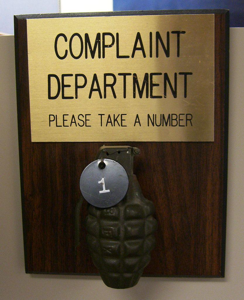 complaint- dept