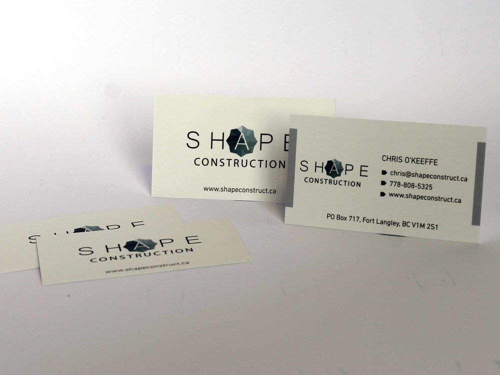 Shape Construction  Logo + Business Card