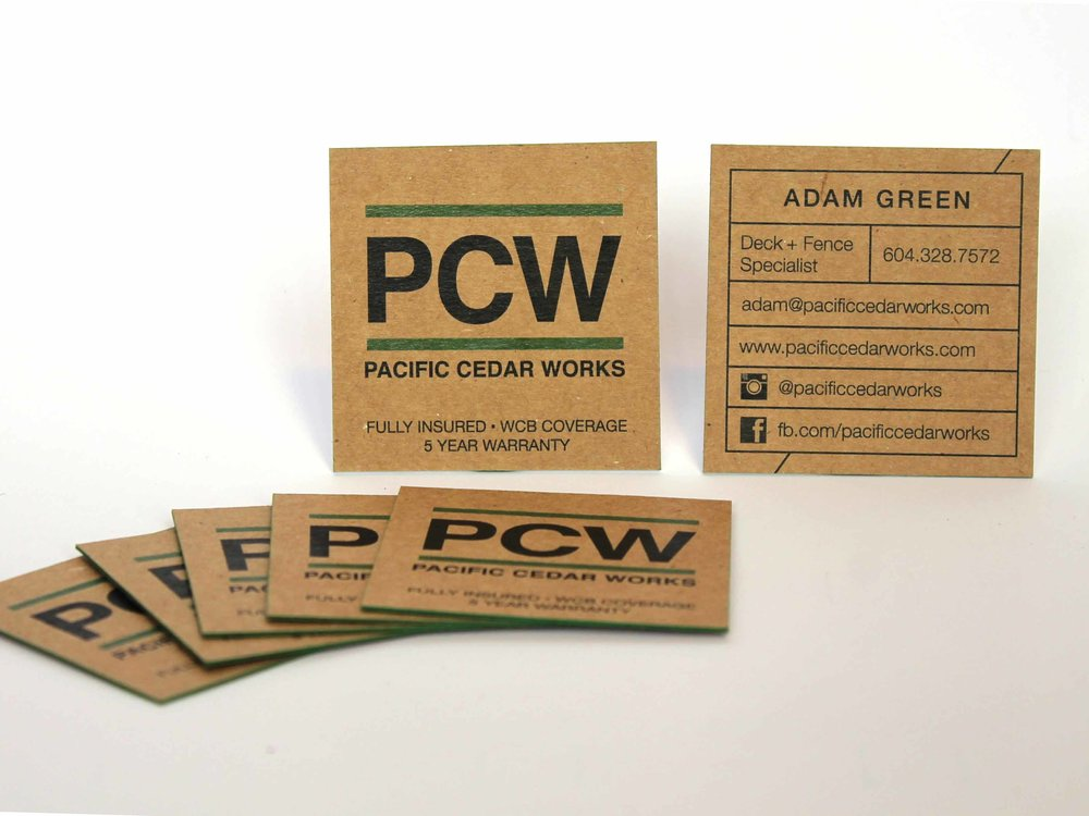 Pacific Cedar Works  Business Card