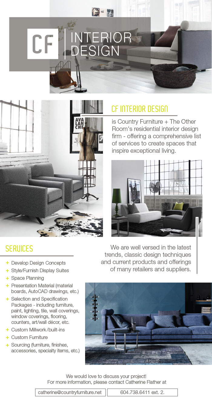 Country Furniture Interior Design  Email Newsletter