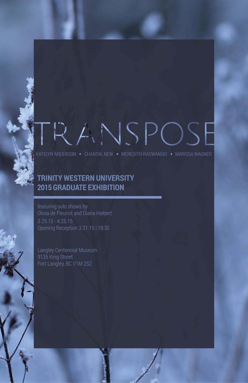 Trinity Western University  Art +Design Graduate Exhibition  Poster design