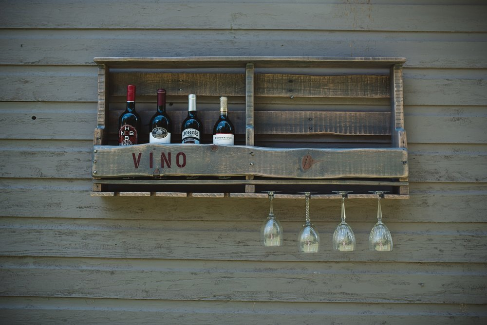 Custom Reclaimed Wood Wine Rack from Bauer Producx