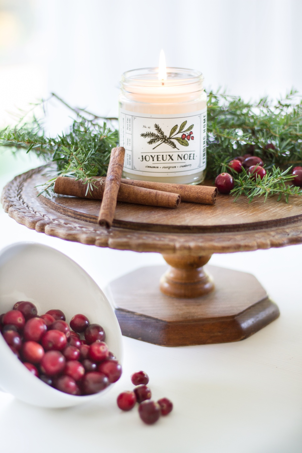 Joyeux Noel Soy Candle at Vivid Hue Home