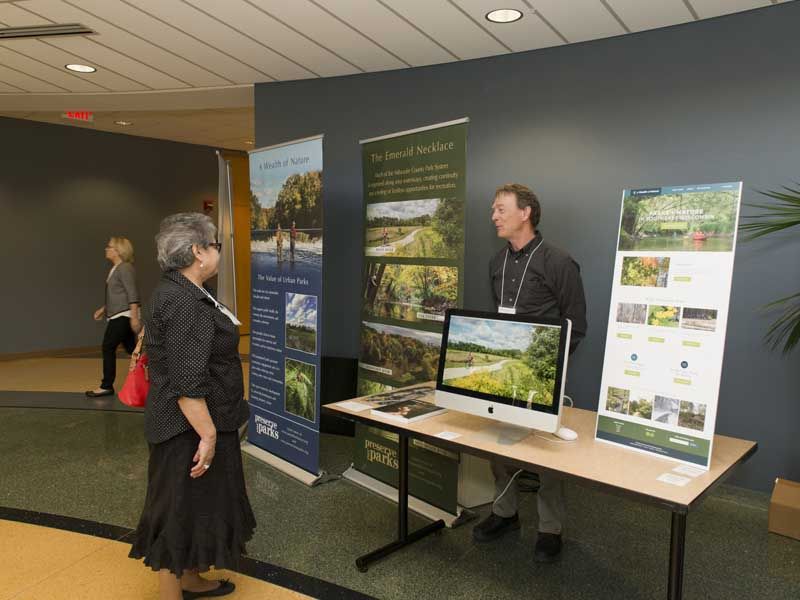 Clean Rivers Clean Lake Conference presenters booth