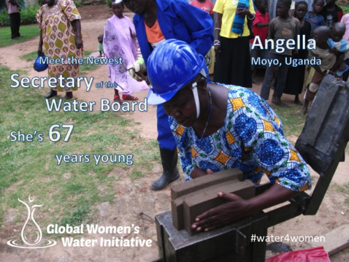 A retired nurse and former refugee, at 67 Angella is secretary of her local water board and is doing things she never thought women could do. Read more about Angella's story  here.