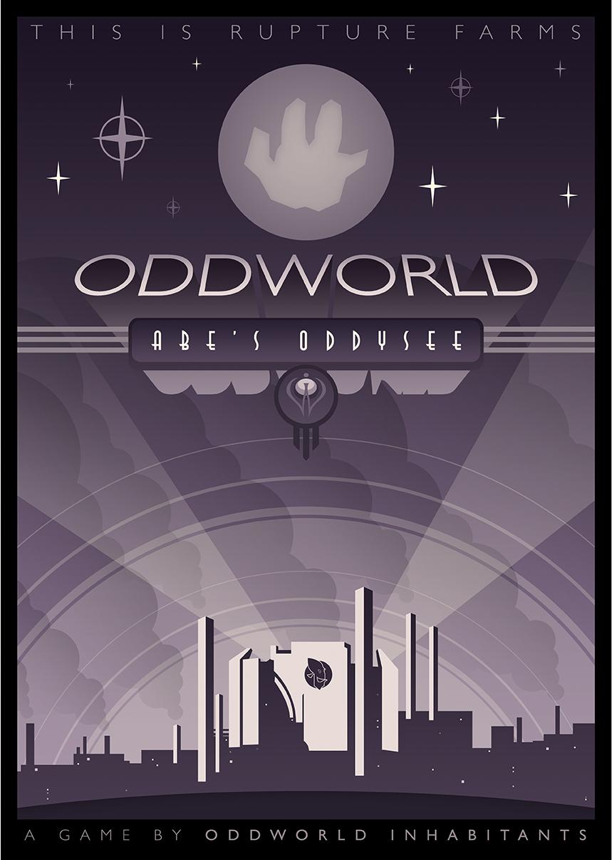 Oddworld: Abe's Oddysee Poster Design