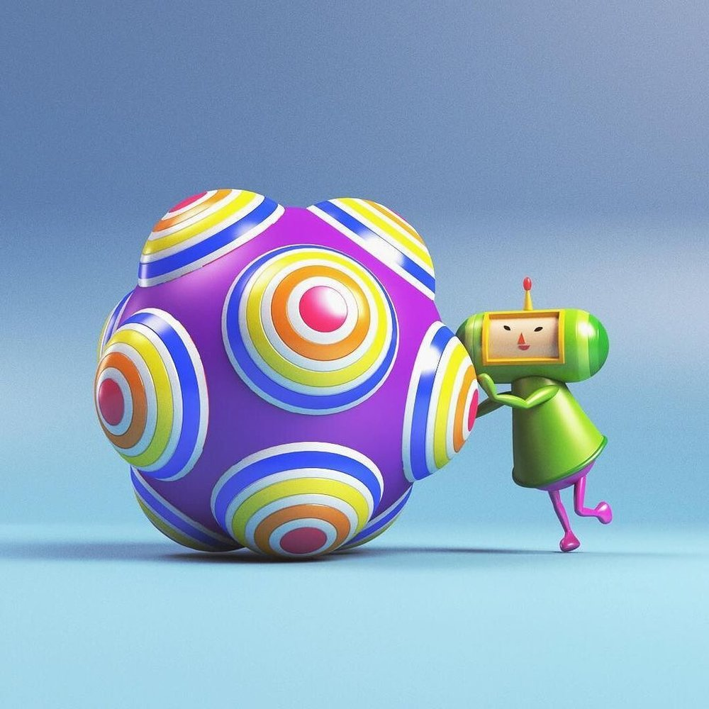 The Prince and his Katamari (from the Katamari game series)