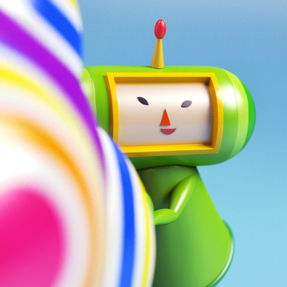 Close up of the Prince from Katamari Damacy