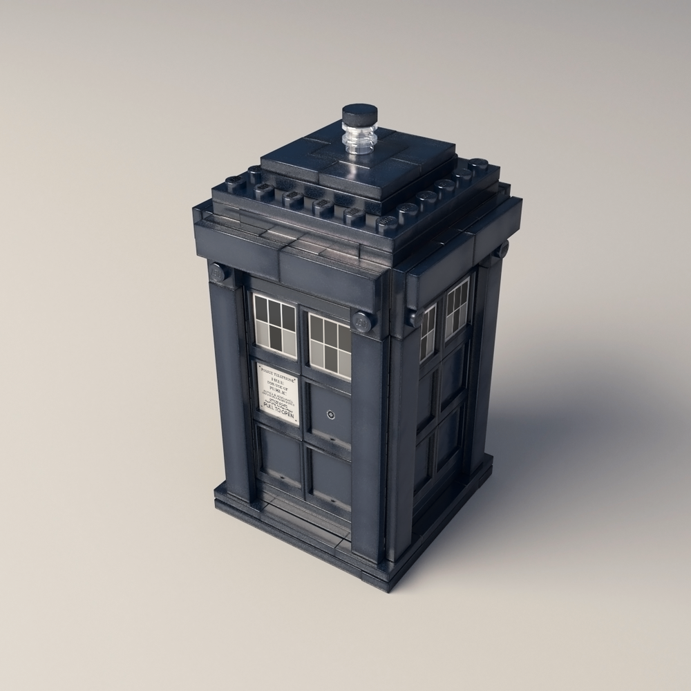 Lego TARDIS render test