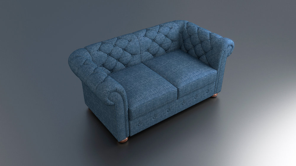 A sofa model I created for an advert. Client needed it to be a denim chesterfield sofa.