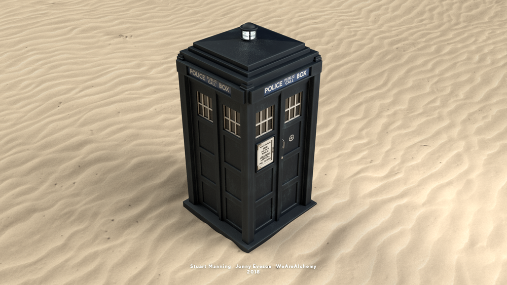 Final TARDIS design, created in 3D.