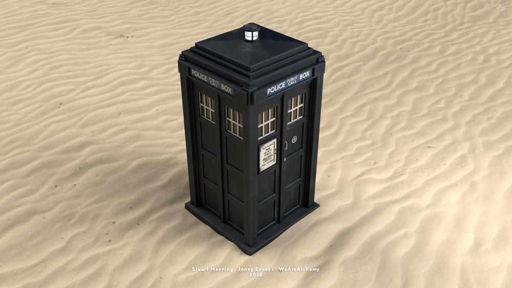 Final TARDIS design, created in 3D.