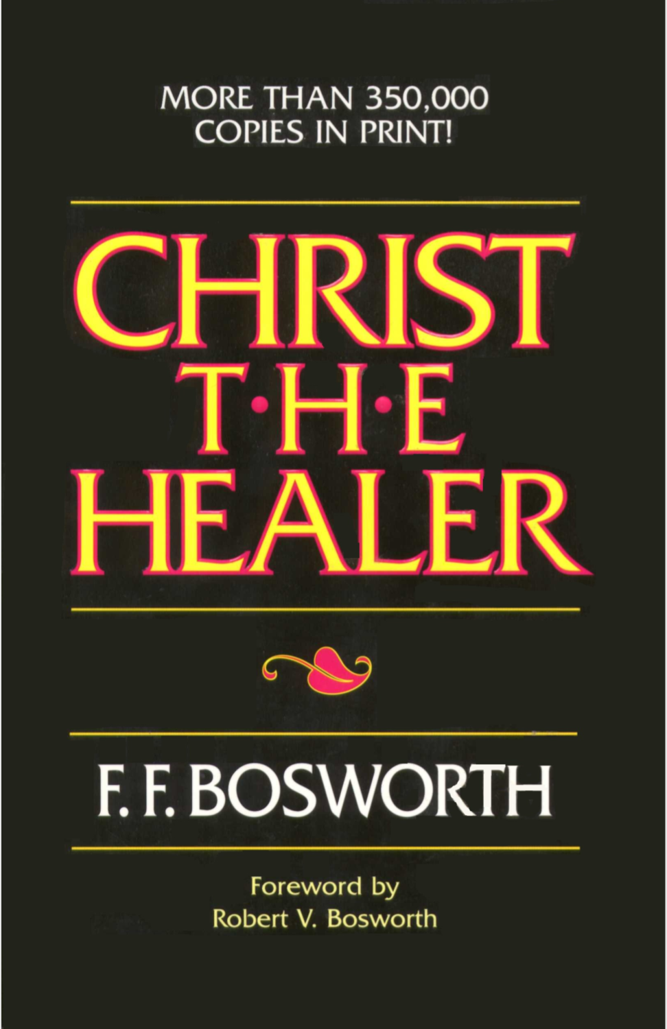 Bosworth offers a comprehensive discussion of healing, based on the premise that it's God's will for all Christians to be physically healed. First released in 1924, this classic on spiritual and physical healing has sold more than 350,000 copies.