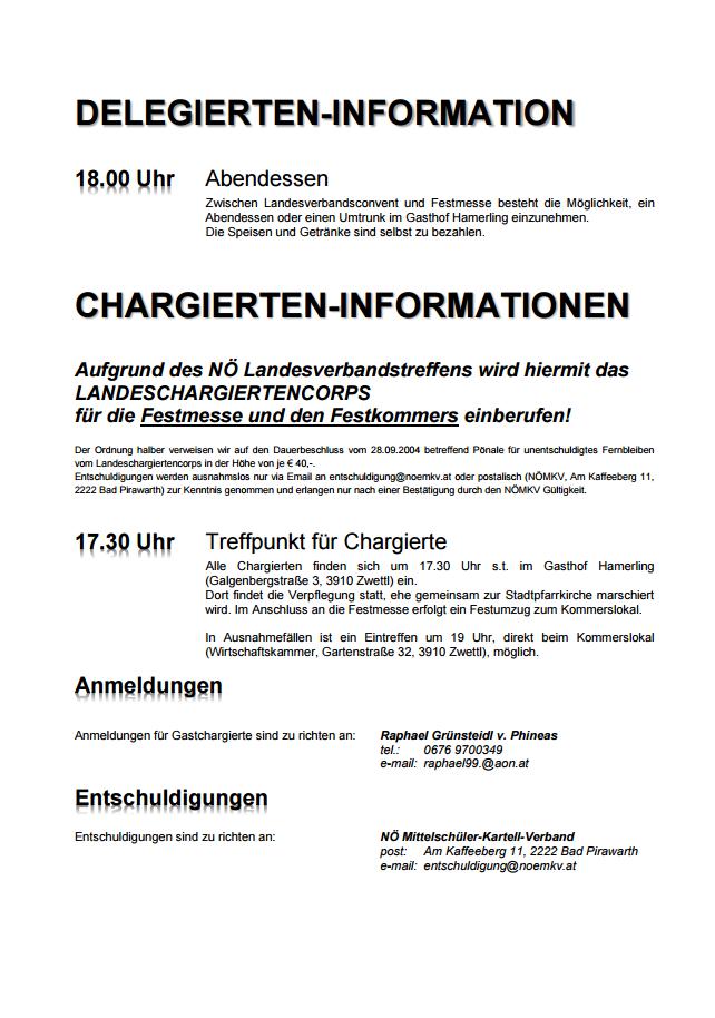 Einladung zum Landesverbandstreffen in Zwettl ...