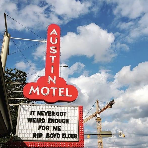 Austin Motel views. ❤️ (pc: @caitdoescontent)