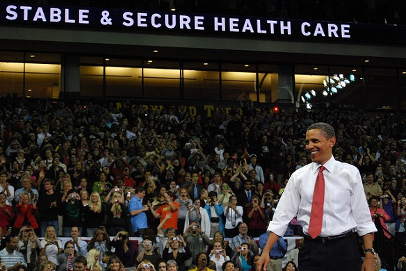 President Obama at a rally in 2009. Photo: Creative Commons license.