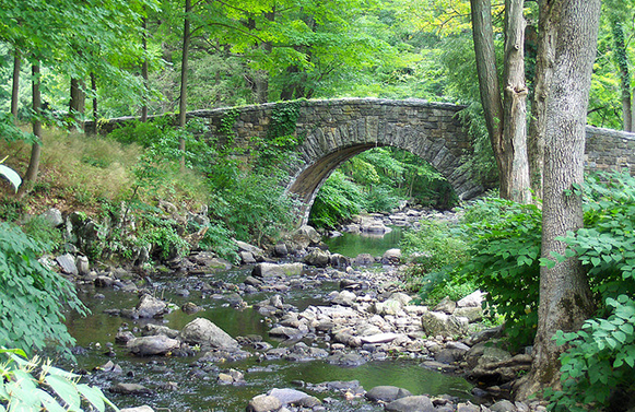 Bridge at Rockefeller State Park Preserve
