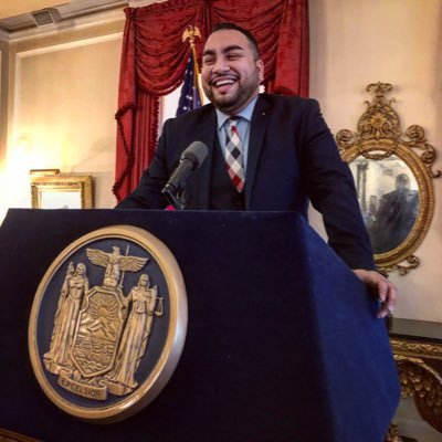 Mohammed Tazbir Alam at the New York State Executive Mansion
