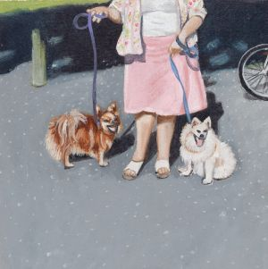 In the park, from the series Walking the dog, 2005 by Robyn Sweaney. Photo: National Portrait Gallery