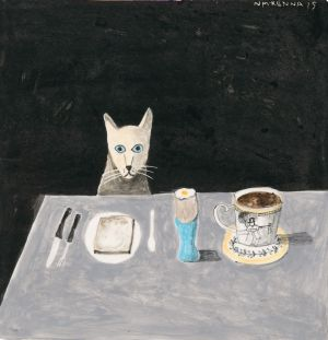 Cat at a Table, 2013, Noel McKenna. Photo:PhotoStudio