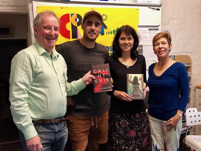 At 3CR MELBOURNE with presenter Dave, author JP Pomere, and presenter Jan Goldsmith