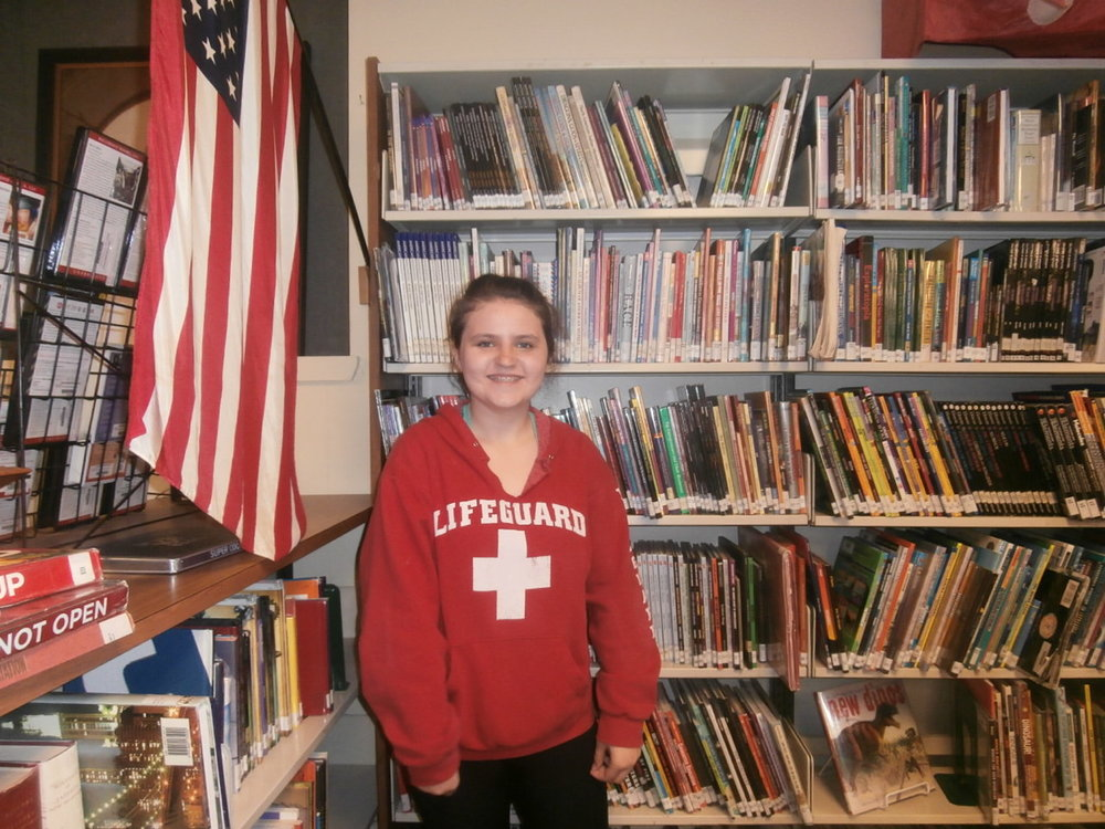 Hello my name is Allyson Hocter, I'm a seventh grade student and I'm 12 years old. I joined News Paper club with a friend and loved it. I'm in karate and Girl Scouts. My favorite animal is a panda, and my favorite color is blue.