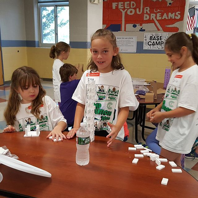 Camp Invention kicked off this week. Learners are hard at work applying their knowledge!  Photos courtesy of Marianne Sorrentino.