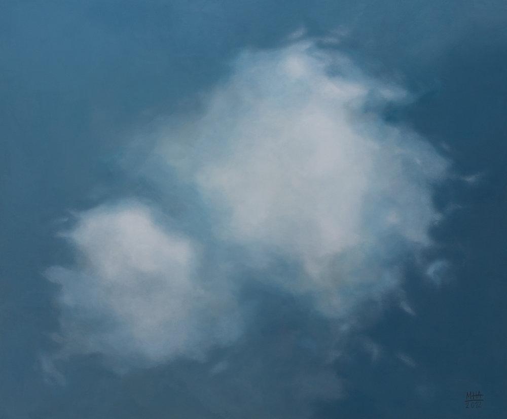 Wolkenportrait 1 , 2012,Acryl auf Leinwand,100x120 cm