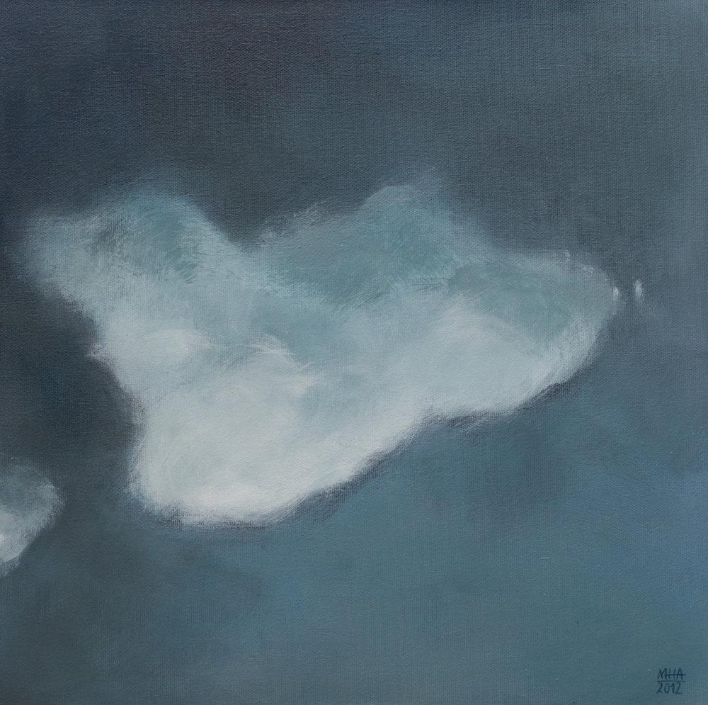 Wolkenportrait 15 , 2012,Acryl auf Leinwand,40x40 cm