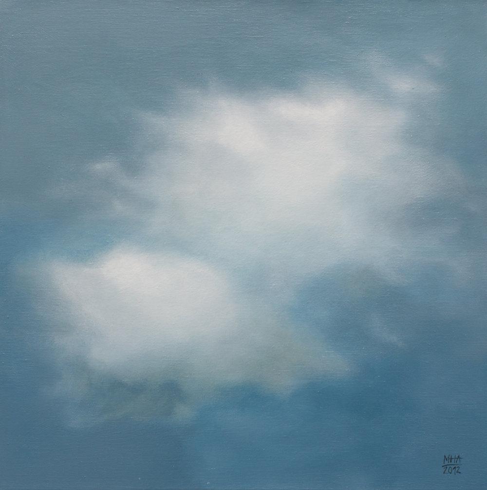 Wolkenportrait 12 , 2012,Acryl auf Leinwand,40x40 cm