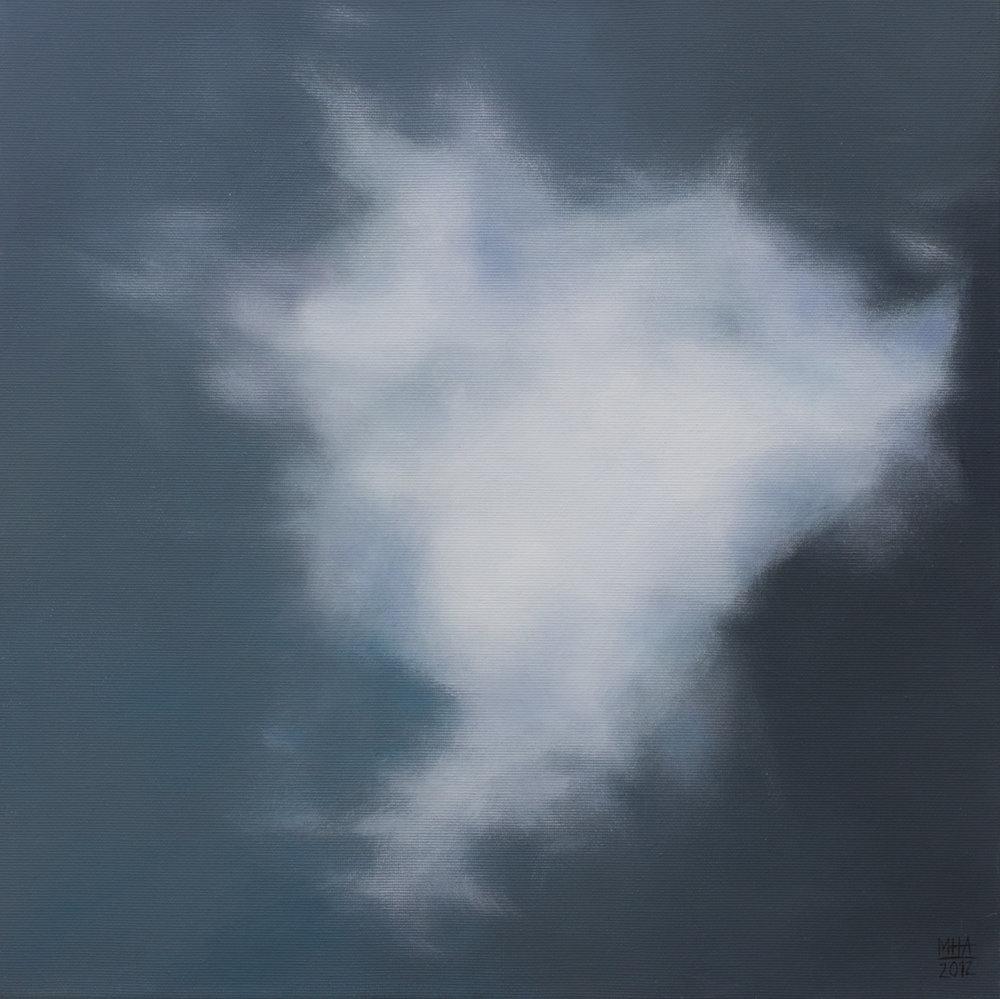 Wolkenportrait 21 , 2012,Acryl auf Leinwand,40x40 cm