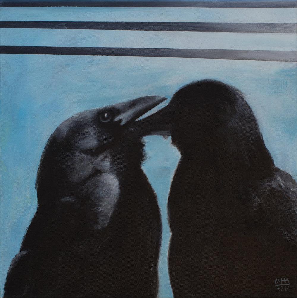 Krähe 5 , 2012,Acryl auf Leinwand, 40x40 cm