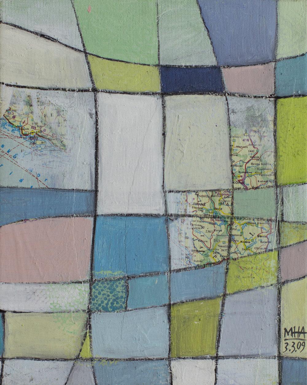 Fantasie in Linien 23 , 2009,Acryl auf Leinwand, 24x30 cm