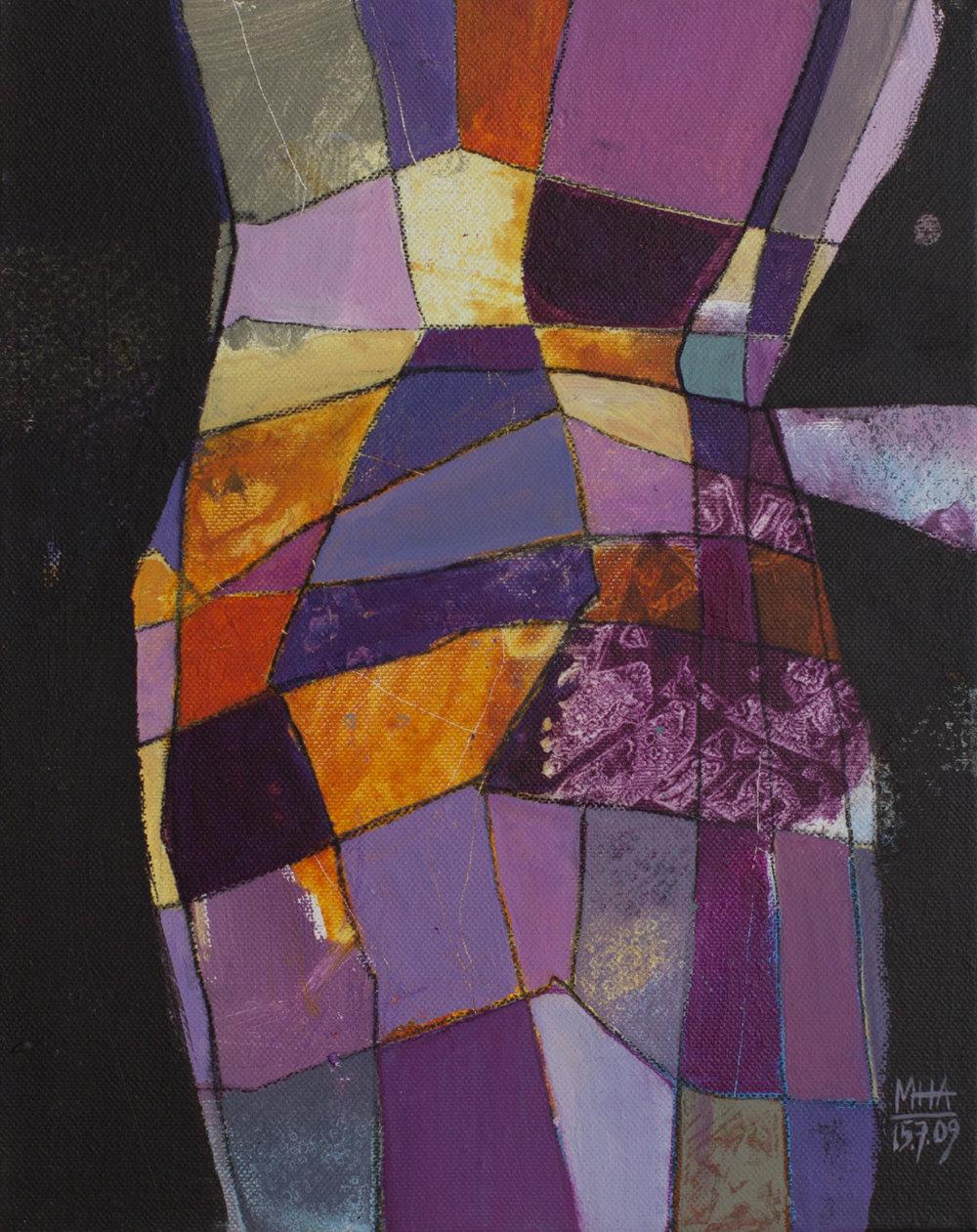 Fantasie in Linien 18 , 2009,Acryl auf Leinwand, 24x30 cm