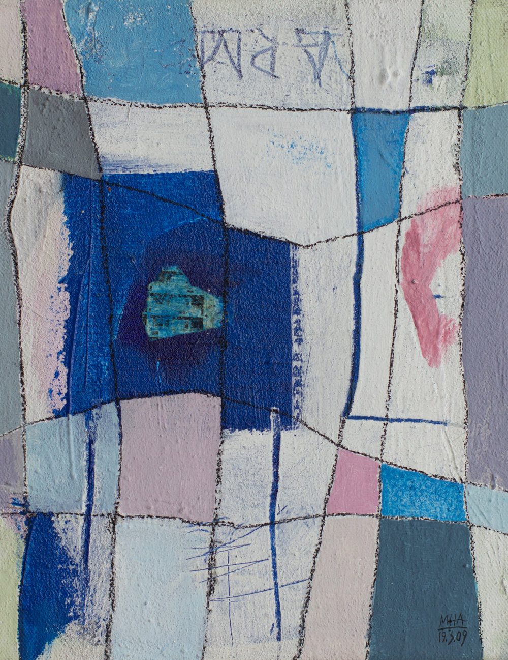 Fantasie in Linien 3 , 2009,Acryl auf Leinwand, 24x30 cm