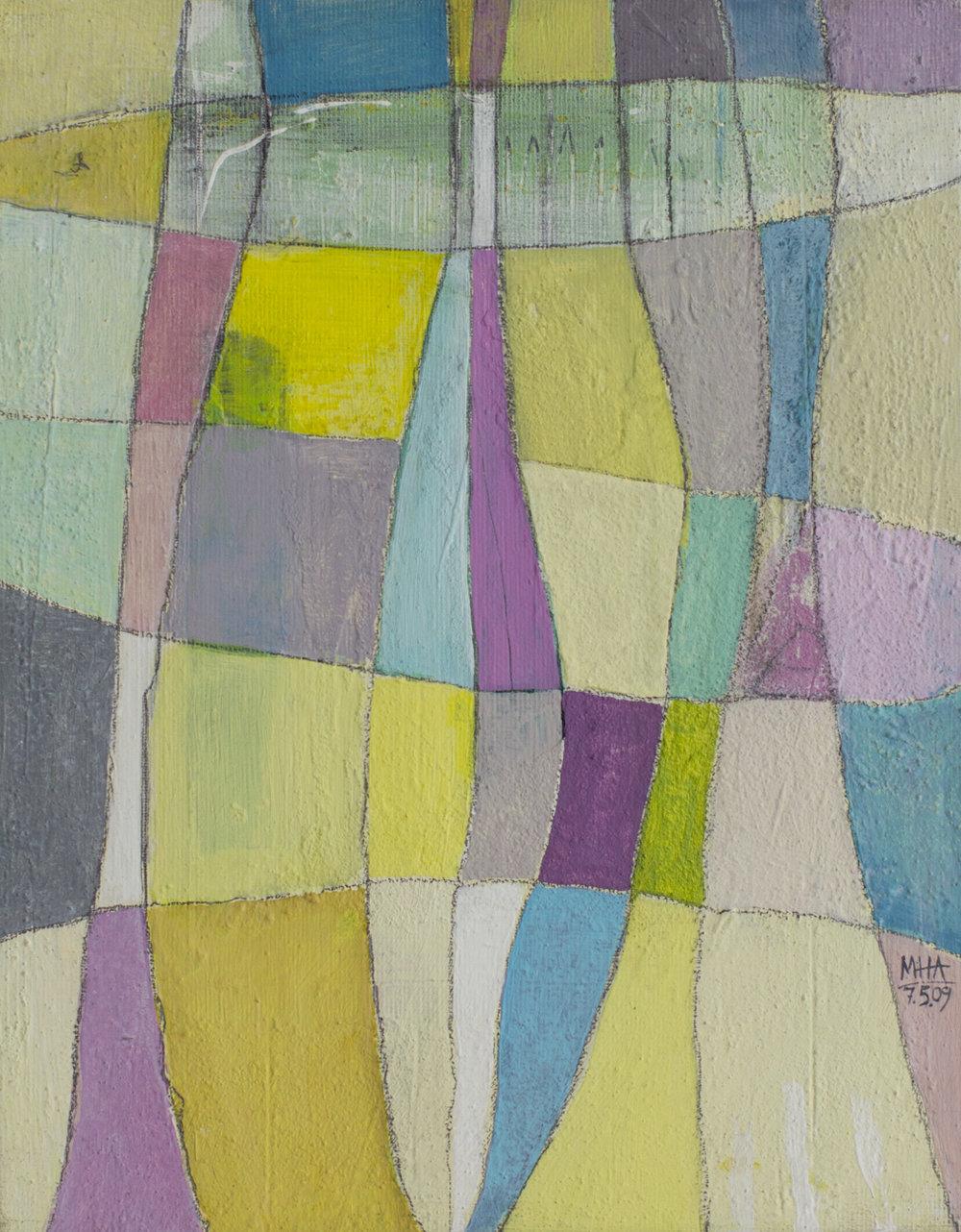 Fantasie in Linien 15 , 2009,Acryl auf Leinwand, 24x30 cm
