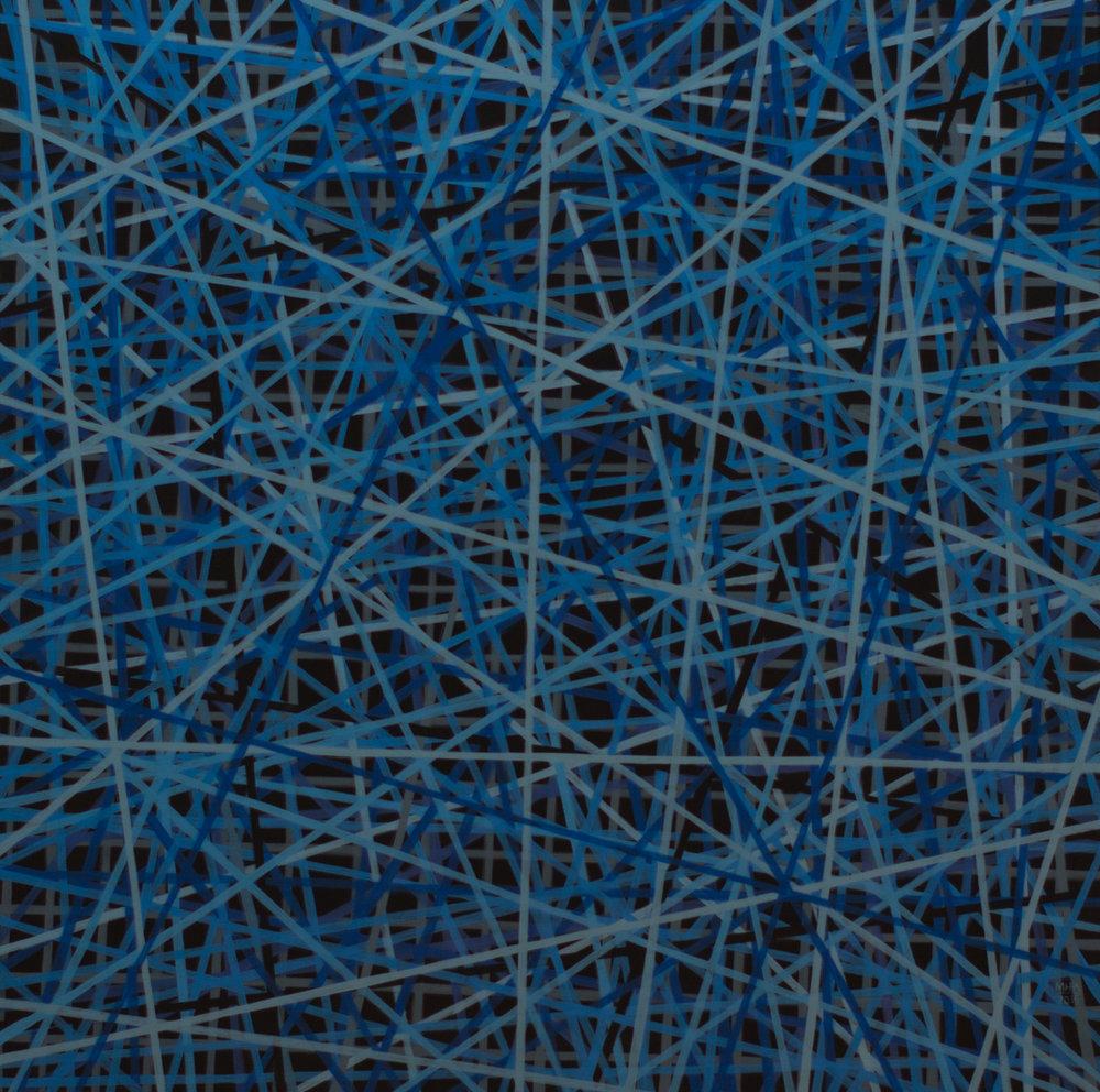 Neue Linien 3 , 2015,Acryl auf Leinwand, 80x80 cm