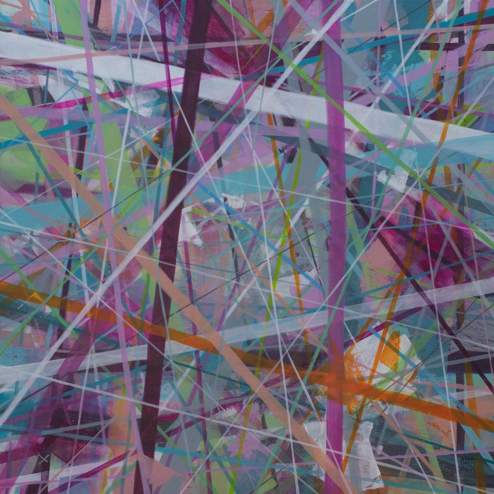 Neue Linien 25 , 2016,Acryl auf Leinwand, 100x100 cm